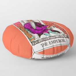 4. The Emperor- Neon Dreams Tarot Floor Pillow