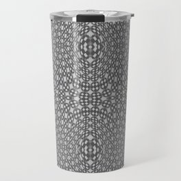 Modern Grayscale Optical Geometric Pattern Travel Mug