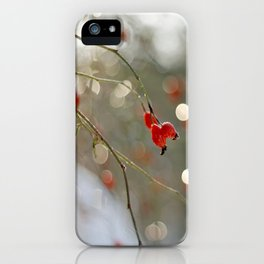 ROSEHIP AND BOKEH iPhone Case