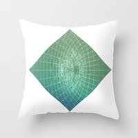 square Throw Pillows featuring square by Alessandro Spedicato