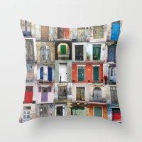 doors Throw Pillows featuring Thirty Doors by Igor Shrayer