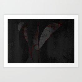 Sweat Drops of Blood (by Troy DeShano) Art Print