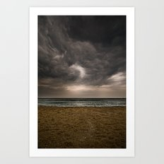 Barceloneta storm Art Print