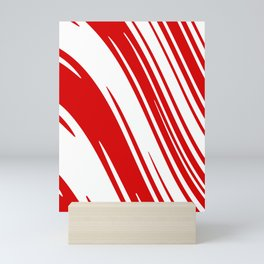 Candy Cane Christmas Red & White Stripes Abstract Pattern Design  Mini Art Print