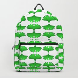 Ginkgo Biloba Leaf Stylized Vegetation Pattern Backpack