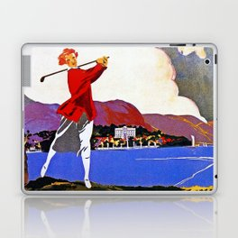 Cadenabbia Lake Como Golf And Tennis Laptop & iPad Skin