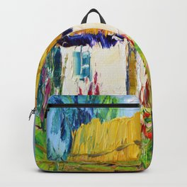 House in the village Backpack