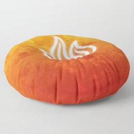 Avatar Fire Bending Element Symbol Floor Pillow