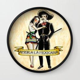 Amor a la Mexicana Wall Clock