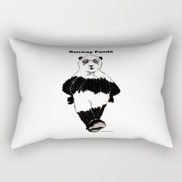 Riggo Monti Design #17 - Runway Panda Rectangular Pillow