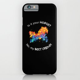 Horse Best Friend Horses Rider Riding Pony Gifts iPhone Case