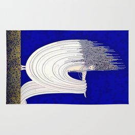 """""""North Sea"""" Art Deco Design by Erté Rug"""