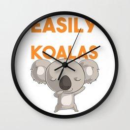 Australian Koala Shirt. Easily Distracted By Koalas. Baby Koala Bear Shirt for the Koala Lover.  Wall Clock