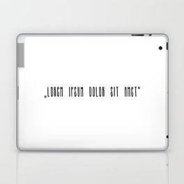 """""""Lorem ipsum dolor sit met"""" Laptop & iPad Skin"""