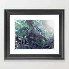 SlinkiSerpintine Framed Art Print