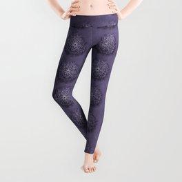 Vintage Lavender Watercolor Mandala Leggings