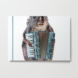 Accordion Accordionists Cute Poster Metal Print