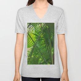 Sunny Tropical Palms 2 Unisex V-Neck