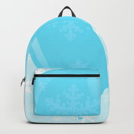 Blue Christmas Balloon Backpack