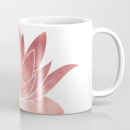 Pink Lotus Flower | Watercolor Texture Coffee Mug