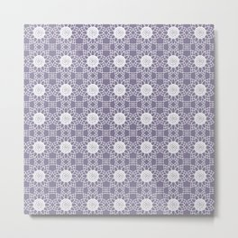 Doily - purple Metal Print