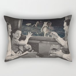 Great view of the moon Rectangular Pillow