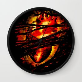 Heart of Fire Wall Clock