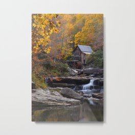 Glade Creek Grist Mill in Autumn II Metal Print