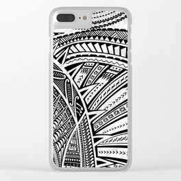Polynesian Tribal Designs Clear iPhone Case