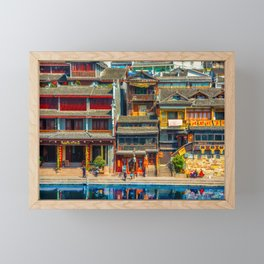 Fenghuang - Ancient Chinese town Framed Mini Art Print