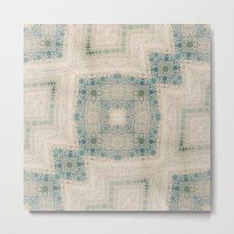Sea Glass II Abstract Mosaic  Metal Print