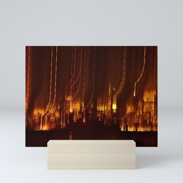 SAN FRANCISCO NIGHT TIME SKYLINE - HOLIDAY LIGHTS Mini Art Print