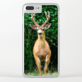 Still In Velvet Clear iPhone Case