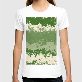 Tones of Green Abstract Lines T-shirt