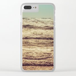 Ocean Crush Clear iPhone Case