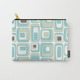 Retro Rectangles Mid Century Modern Geometric Vintage Style Carry-All Pouch