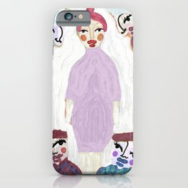 The center of attention, Puppet Show by Nina Sencar iPhone Case