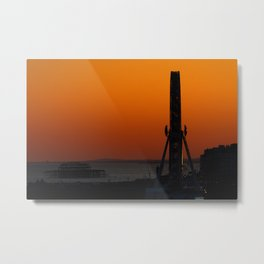 Brighton Wheel at Sunset Metal Print