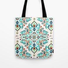 Modern Folk in Jewel Colors Tote Bag