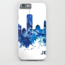 Jerusalem Israel Skyline Blue iPhone Case