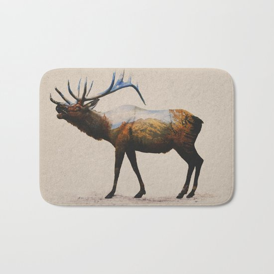 The Rocky Mountain Elk Bath Mat