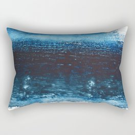 Lake Michigan: a pretty, minimal abstract piece in icy blues by Alyssa Hamilton Art Rectangular Pillow