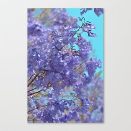 Purple and Blue Party! Canvas Print