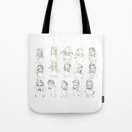 Kristen Stewart Sketches Tote Bag