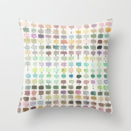 Tiny Watercolor Swatches Throw Pillow