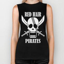 Red hair pirates Biker Tank