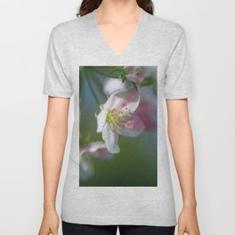 Apple Tree Blossoms In Spring Unisex V-Neck