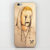 inner demons iPhone & iPod Skins featuring Demons by Kurt Schawacker
