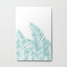 Palm Leaves Island Paradise Metal Print