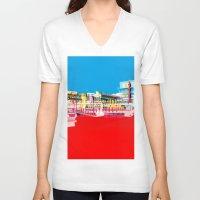 bauhaus V-neck T-shirts featuring Bauhaus · Das Bauhaus 1 by Marko Köppe